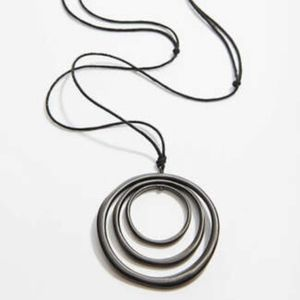 J. Jill - Hand-Brushed Circles Pendant Necklace